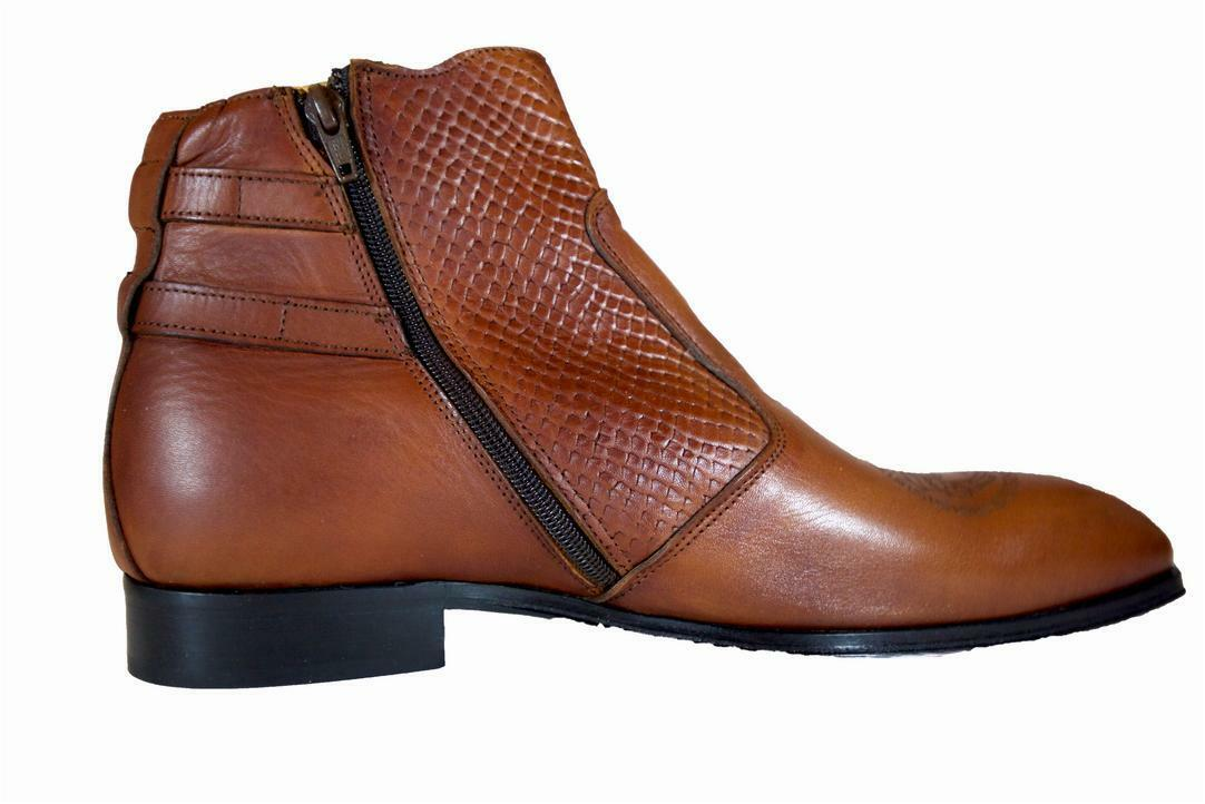 Brown Ankle Boot Boot Boot Handmade Men Italian Leather Dress Boot Dress BootSize 40,43,44 397b12