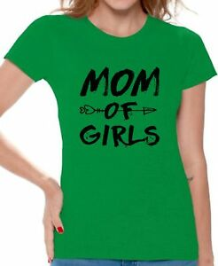 Mom-of-Girls-T-shirts-Shirts-Top-for-Women-Mother-Day-039-s-Gift-for-Girl-Mama
