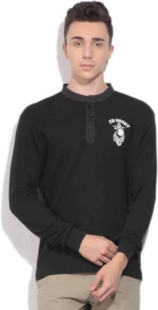Ed Hardy Self Design Mens Henley  T-Shirt -CU9