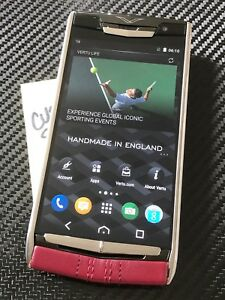 Genuine-Vertu-NEW-Signature-Touch-5-2-034-Garnet-Calf-Leather-BRAND-NEW-RARE