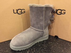 ugg australia womens bailey bow ii boots grey 1016225 ebay rh ebay com