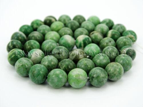 Natural Qinghai Jade Jasper Gemstone Round Beads Strand 15.5/'/' 6mm 8mm 10mm
