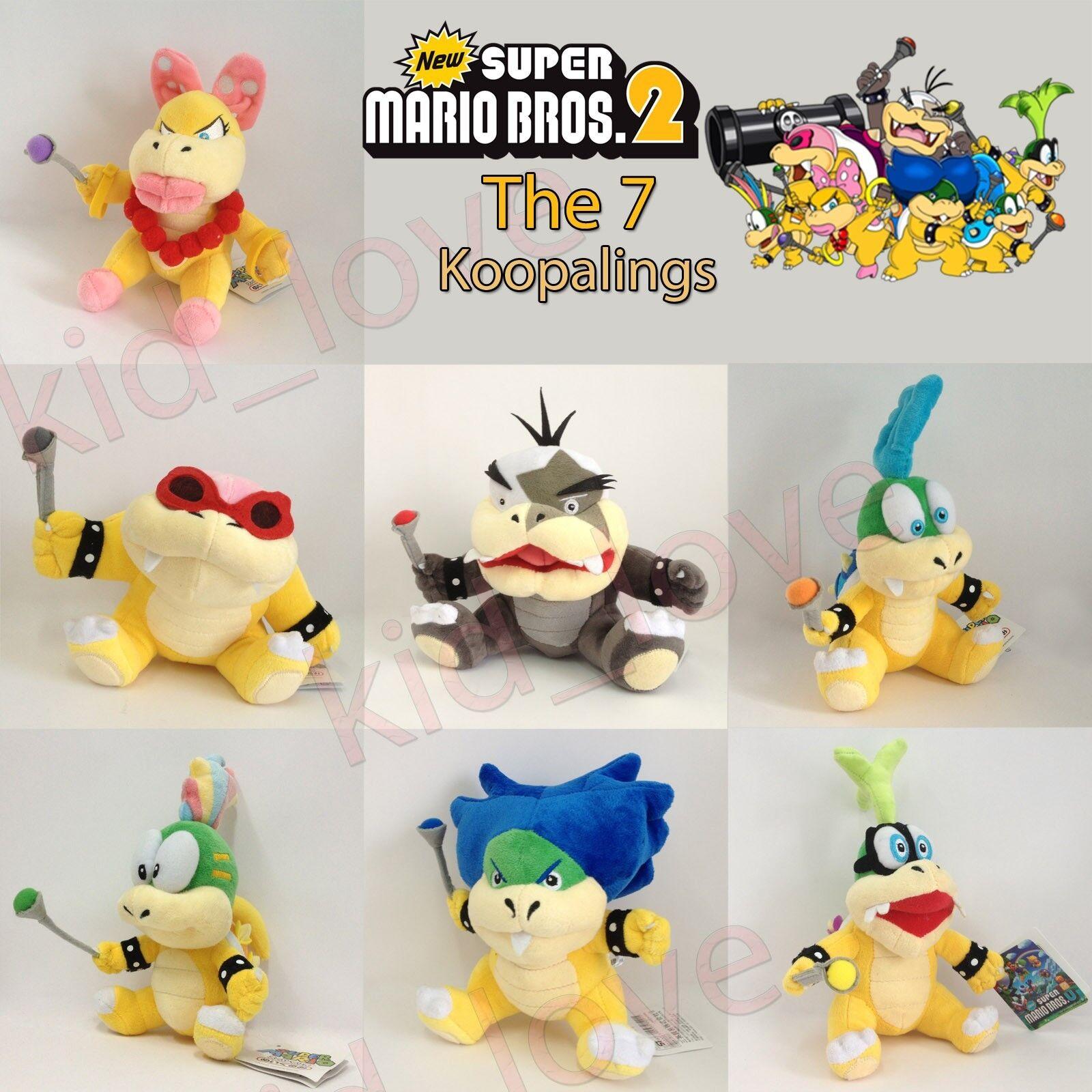7X Ny Super Mario Bros Koopalings Minions Plush mjuk leksak Stuffing djur Doll 6