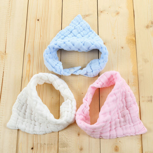 Baby Soft Cotton Bibs Saliva Towel Feeding Triangle Bandana Burp Cloths Towel 8C