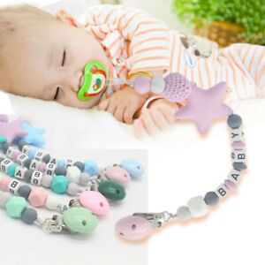 Dummy-Clip-Holder-Pacifier-Clips-Soother-Chains-Silicone-Bead-Baby-Teething-Toy