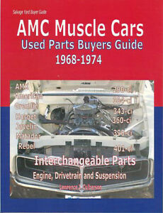 amc parts interchange manual book american motors buyers guide used rh ebay com Used Auto Parts Yards Used Auto Parts Salvage Yards
