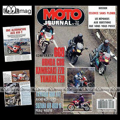 Actief Moto Journal N°980 Yamaha Xtz 660 Tenere Suzuki Gsxf 750 Fantic K-roo Morillas