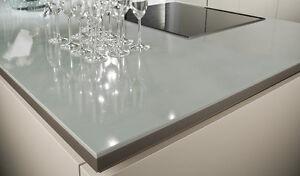 Küchenarbeitsplatte Glas Glasplatte Arbeitsplatte auf Maß ESG Glas ...