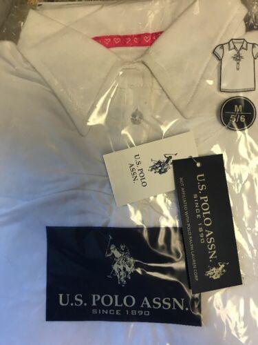 Girls School Uniforms Filles SZ M 5//6 Blanc Top Col Polo