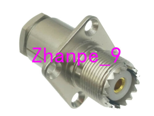 1pce Connector UHF SO239 female jack Flange clamp RG8 RG165 RG213 LMR400 cable