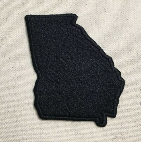 Georgia US State Black Iron on Applique//Embroidered Patch