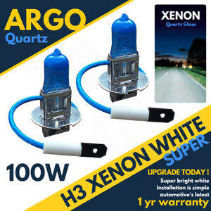 Vauxhall-Astra-Mk5-h-H3-100w-Super-White-Xenon-Hid-Front-Fog-Light-Bulbs