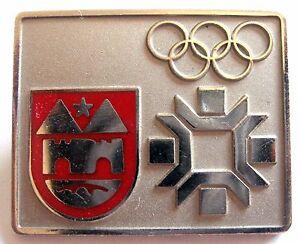 WINTER OLYMPIC GAMES SARAJEVO, YUGOSLAVIA 1984 - OFFICIAL STAFF BADGE
