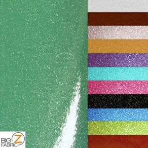 VINYL FAKE LEATHER UPHOLSTERY SPARKLE GLITTER FABRIC //Turquoise//SOLD BY THE YARD