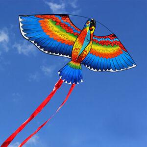BULE-NEW-Kites-For-Kids-Children-Lovely-Cartoon-Parrot-Kites-With-Flying-Line