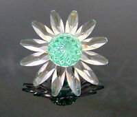 NEW Swarovski SCS CRYSTAL DAISY FLOWER FIGURINE Green Marguerite Cake Topper NIB