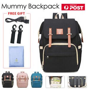 Waterproof-Large-Mummy-Nappy-Diaper-Bag-Baby-Travel-Changing-Nursing-Backpack