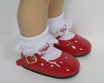 BLACK Patent Mini Heart Cut-Out Mary Jane Doll Shoes For Chatty Cathy Debs