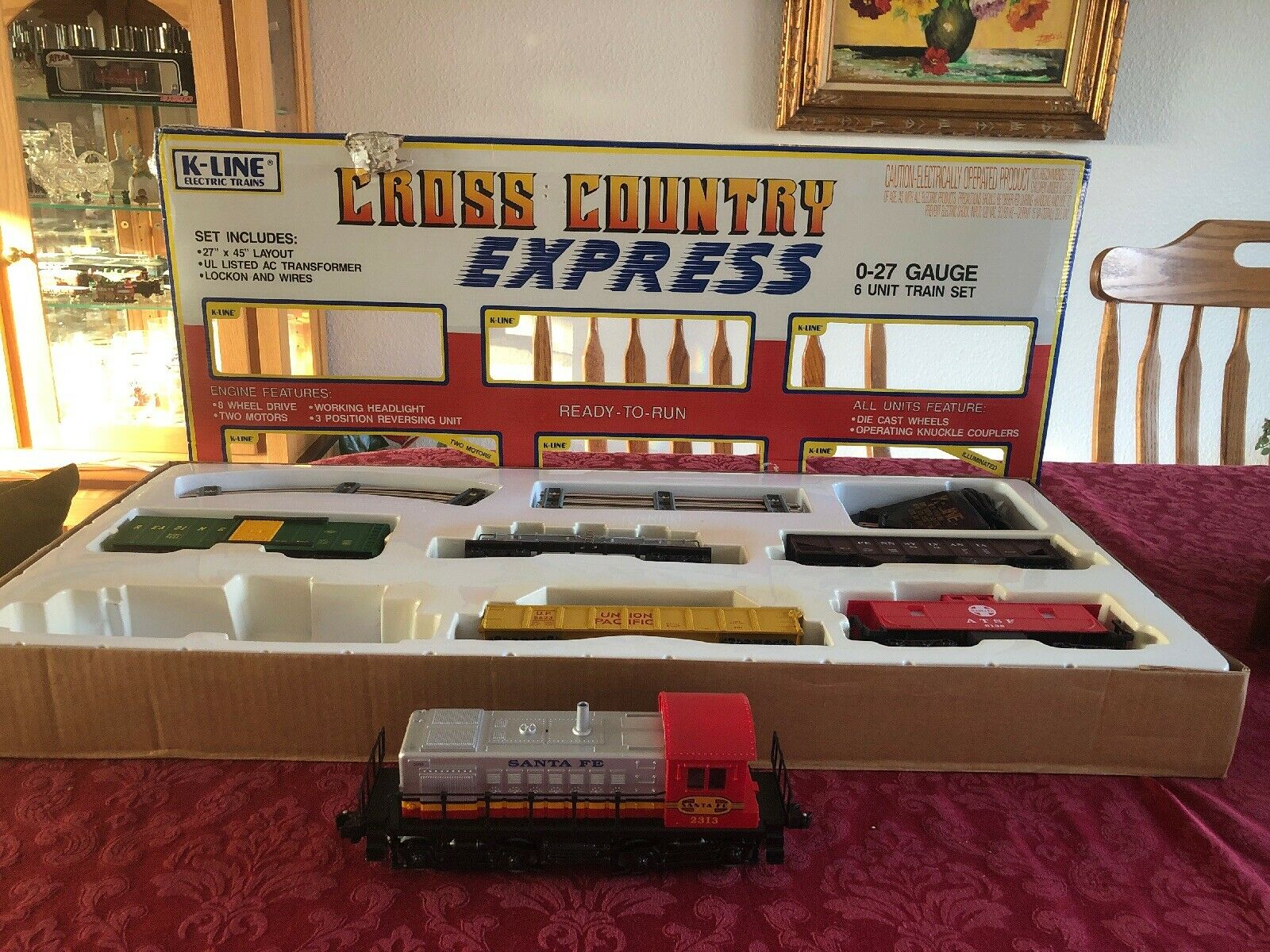 Vintage K-Line O-27 calibre Cross Country Express Train Set  1901