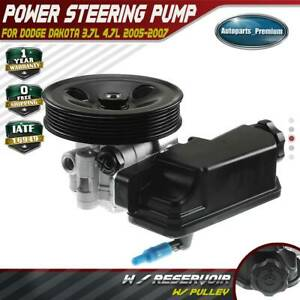 Power-Steering-Pump-w-Pulley-for-Dodge-Dakota-3-7L-4-7L-2005-2007-52855186AH