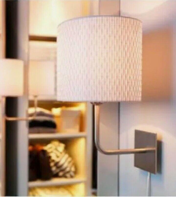IKea Alang Floor Lamp Nickel Plated