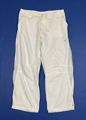 Nike Dri Fit Studio 72 Pantalone Rete Donna Usato Sport W32 Tg 46 Bianco T5457