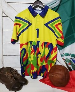 cc8893d33c4 Image is loading Mexico-1998-Jorge-Campos-1-Goalkeeper-Jersey-Sizes-