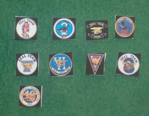 1//6 scale complete set of 9 modern US Navy Seals fabric patches