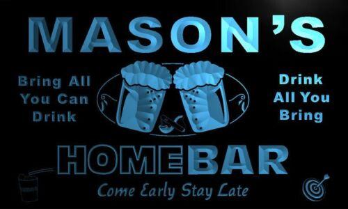 p1135-b Mason/'s Home Bar Beer Family Last Name Neon Light Sign
