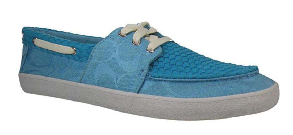 Nuevo. ( 128) entrenador malania firma firma firma para Mujer Zapatos Náuticos tamaño nos 8.5 Turquesa  Mercancía de alta calidad y servicio conveniente y honesto.