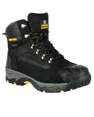 Cap Mens 13 Black Toe Safety Uk6 Amblers Fs987 Waterproof Boots Steel Bwq0H0