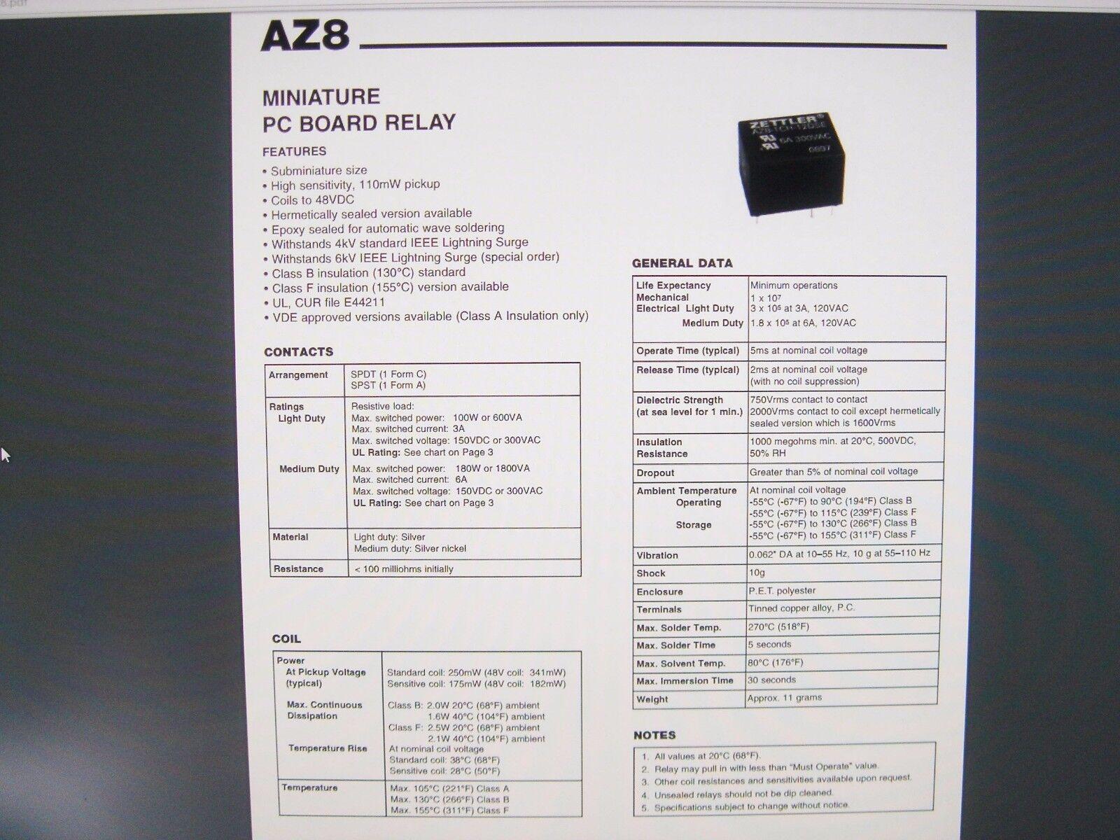 Relais ZETTLER AZ693-560-51 24V 1xUM-verkehrt 250V 10A #20R02