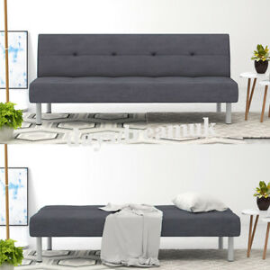 Panana Fabric 3 Seater Sofa Bed Luxury Couch Grey Sofa Uk Fire
