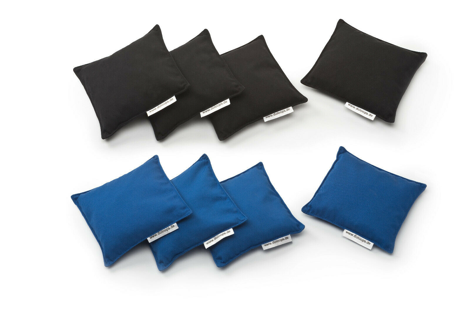 Original Cornhole Bags im Set -  8er Cornhole Bag Set 4 blaue & 4 schwarze Bags