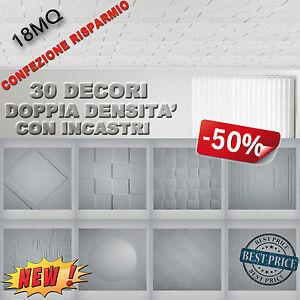 MQ18 pannelli a soffitto polistirolo 3D isolanti antimuffa 30 decori € 3,99MQ...