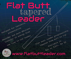 10 Flat Butt Tapered leaders 9ft  mix of 4x 5x