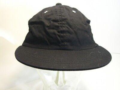 Ehrgeizig Mütze Cap Schirmmütze Basecap Schwarz Silberne Nieten Gr. 57 Echt Vintage