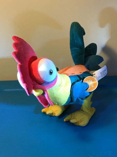 DISNEY MOANA PLUSH TALKING CLUCKING HEI HEI THE CHICKEN ROOSTER TOY