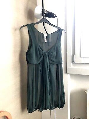 Camicia trasparente verde scuro zara taglia medium, Depop