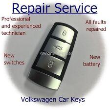 VW Volkswagen Passat mk7 b6 CC 3 Botón Inteligente Llave Reparación Servicio de restauración