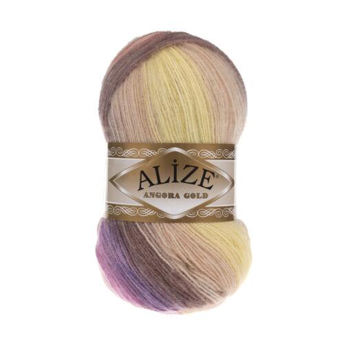 wool 20/% acrylic 80/%  Color selection Yarn Angora Gold Batik