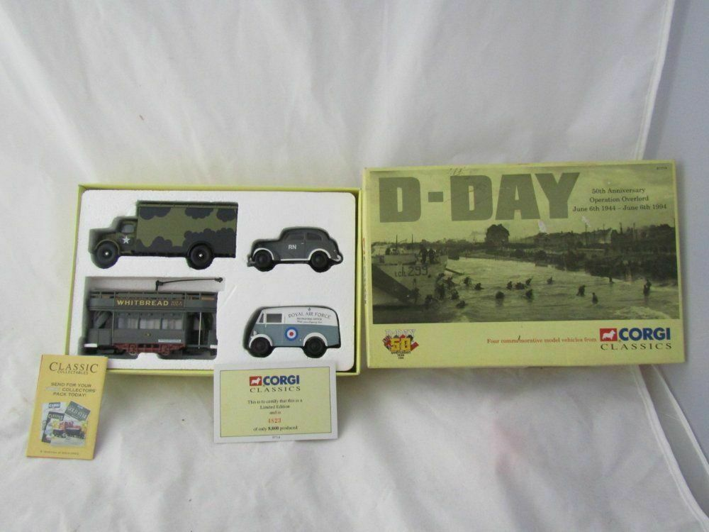 CORGI CLASSICS 50TH ANNIVERSARY D DAY OP OVERLORD 4 VEHICLE SET NEW IN BOX    LT