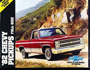 Details About 1982 Chevrolet Silverado Truck Sales Brochure Book