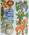 JUNGLE/SAFARI/ZOO ANIMALS wall stickers 19 decals decor monkey zebra elephant +