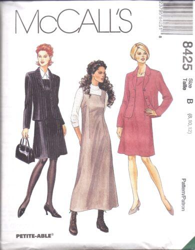 8425 UNCUT Vintage McCalls SEWING Pattern Misses Dress Jumper Unlined Jacket OOP