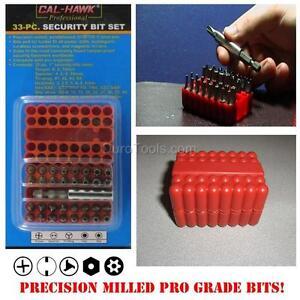 Pro-Grade-33-pc-piece-Security-Bit-Set-Tamper-Proof-Screwdriver-Torx-Star-Hex