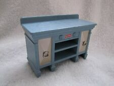 NEW! FISHER PRICE Loving Family Dollhouse DINING BUFFET Blue Sideboard Cabinet