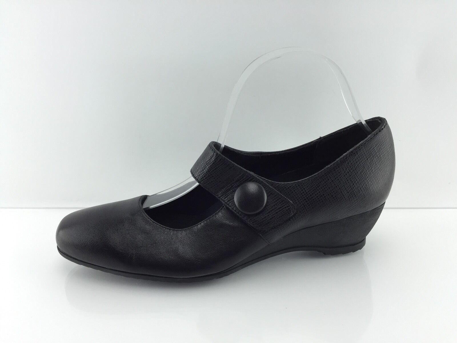Munro Women's Black Shoes Leather Shoes Black 8 M dc36f5