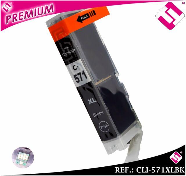 INCHIOSTRO NERA CANON 571 BK XL COMPATIBILE CARTUCCIA NERO STAMPANTE CLI-571BKXL