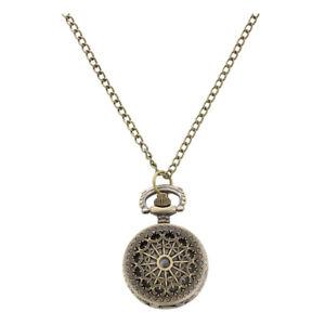 Taschen-Kette-Uhr-Taschenuhren-Kettenuhr-Umhaengeuhr-Quarzuhren-Watch-Damen-H-1A